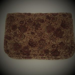Daren's Bags Brown Clutch Quilted Floral Soft